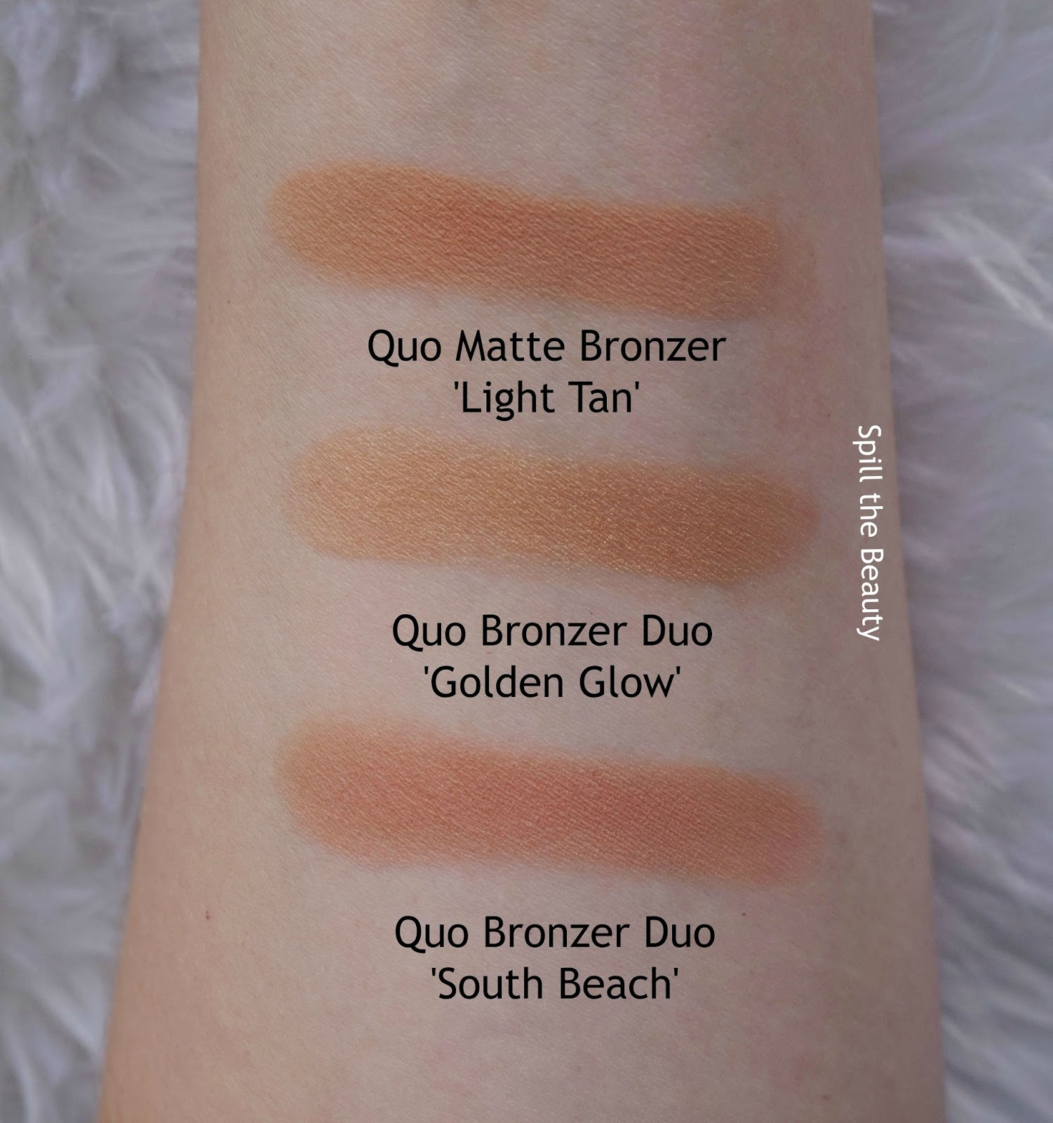 quo 2017 makeup review swatches quo bronzer duo south beach golden glow matte bronzer light tan