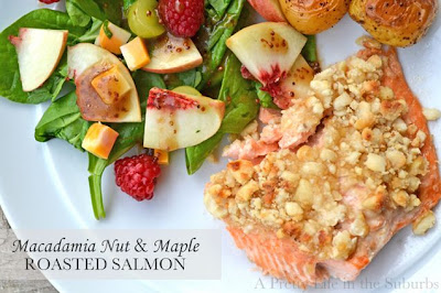 Macadamia Nut and Maple Roasted Salmon