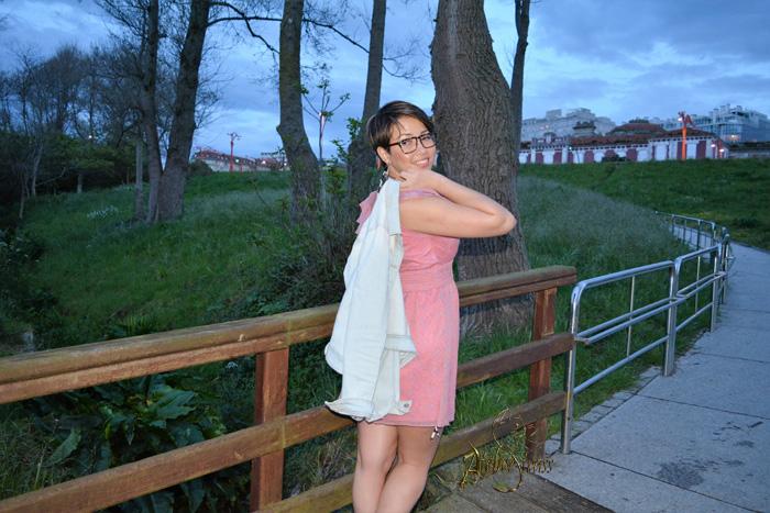 vestido rosado