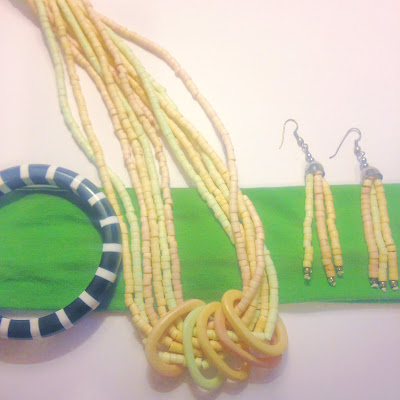 sherbert accessories with black and white stripe banlge bracelet