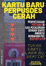 Kartu Anggota Perpustakaan Pertama Berbahan PVC (Seperti KTP) di Kabupaten Pekalongan / The First Library Card Members Made of PVC in Pekalongan Regency