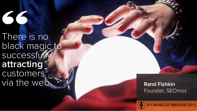 There is no black magic to successfully attracting customers via the web. Rand Fishkin