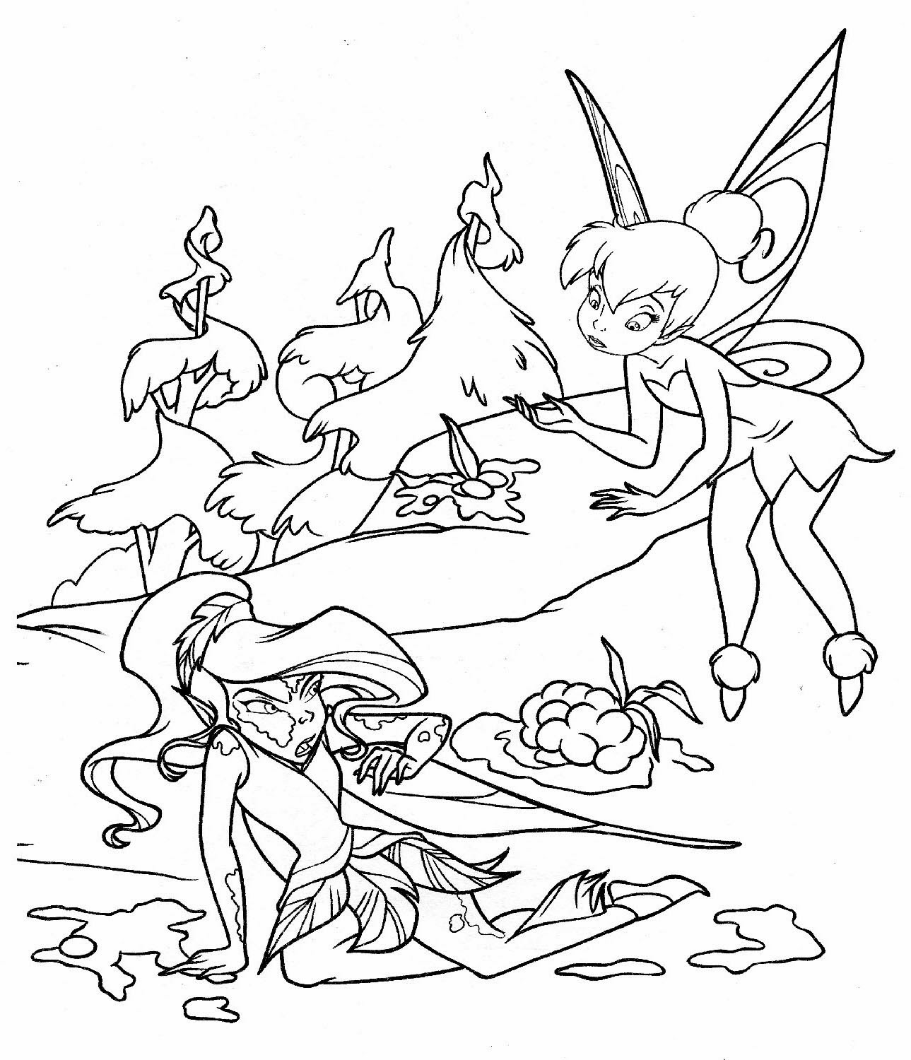Printable fairies coloring pages ~ Printable coloring pages