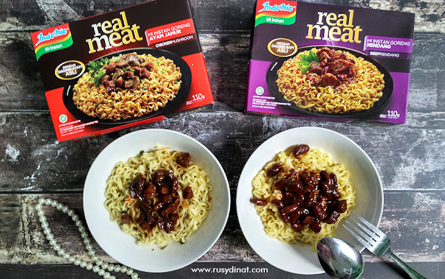 Indomie Real Meat, Indomie, Rendang, Chicken Mushroom