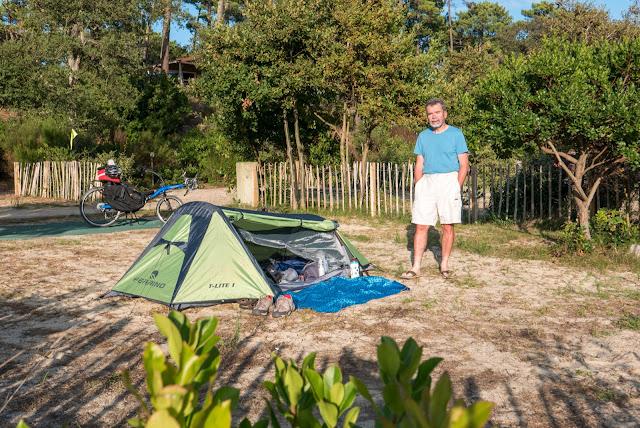 Vélodyssée, au camping de Contis-Plage