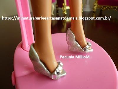 Sapatinhos Plataforma Para Barbie de Biscuit Por Pecunia Milliom
