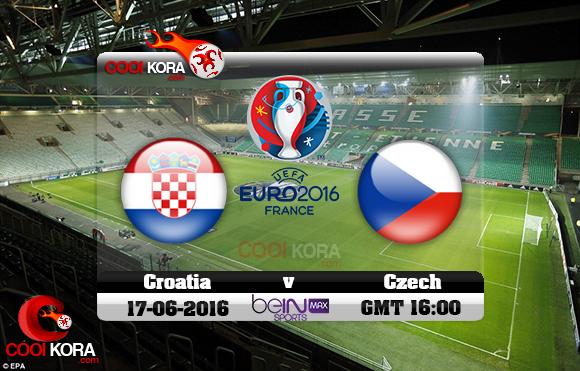 مشاهدة مباراة كرواتيا والتشيك اليوم 17-6-2016 بي أن ماكس يورو 2016