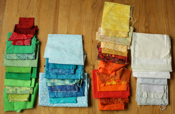 Baby quilt fabric pull | DevotedQuilter.blogspot.com