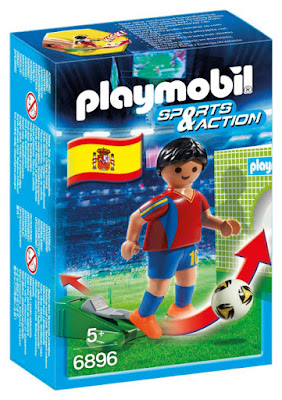 TOYS : JUGUETES - PLAYMOBIL Sports & Action  6896 Futbolista de España   Selección Española  Jugador de Futbol   Muñeco - Figura  Abril 2016   A partir de 5 años  Comprar en Amazon España