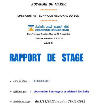 Rapport De Stage Laboratoire Btp Granulat Et Sol Cours