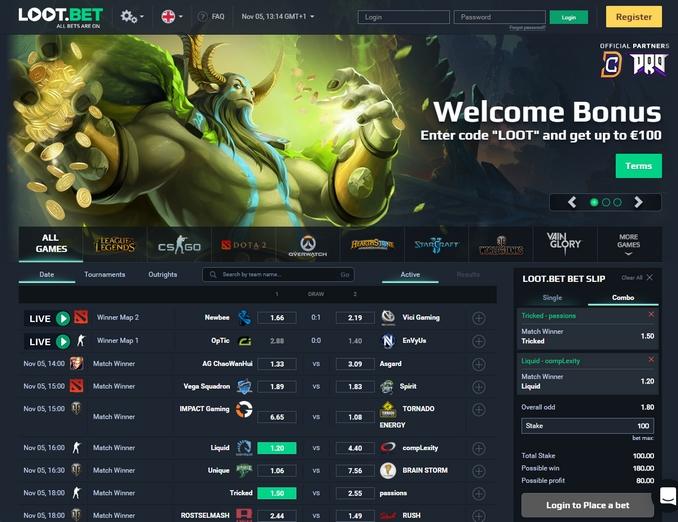 Loot-bet Screen