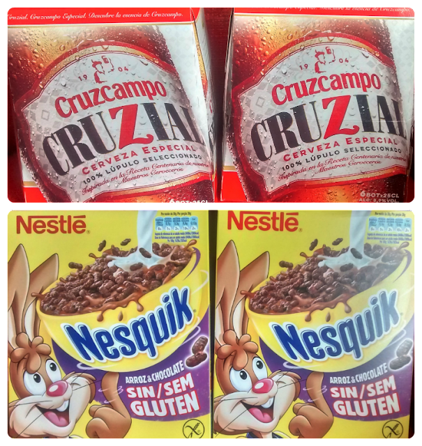 Cerveza Cruzcampo Cruzial y Cereales Nesquik