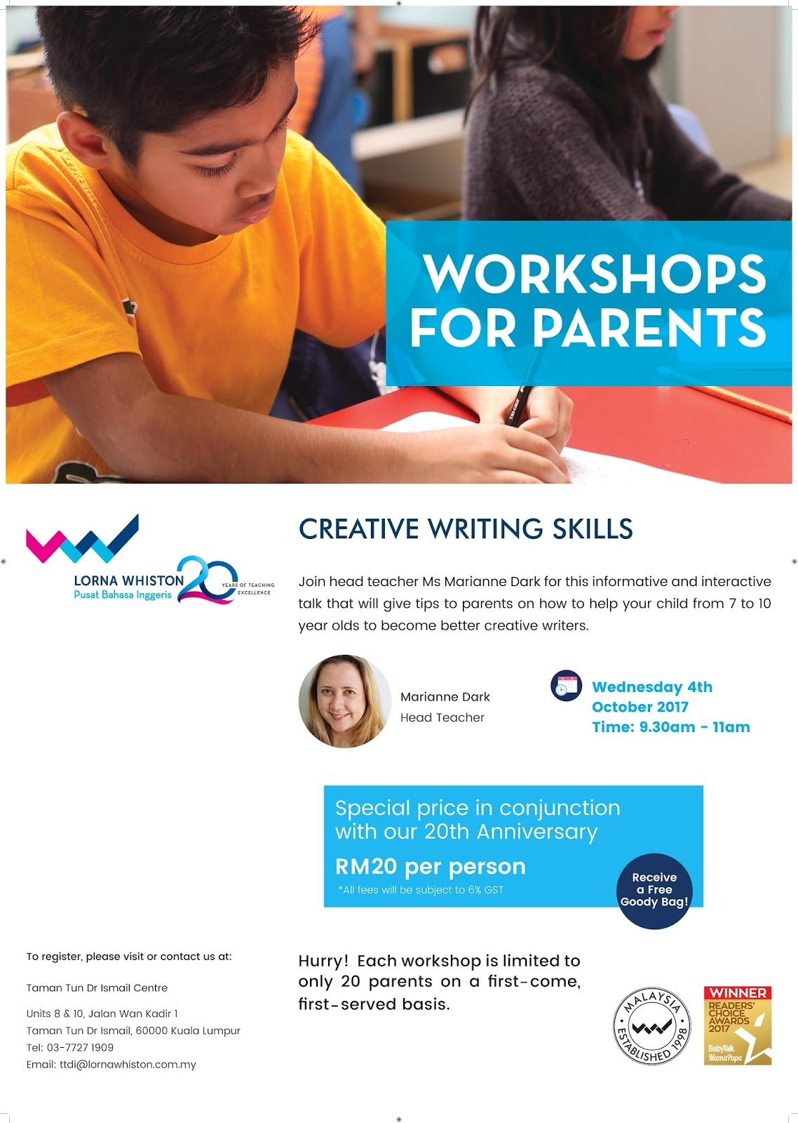 Advice For Parents Of Children Just >> Parents Workshop Tips To Help Your Child Become Better Creative