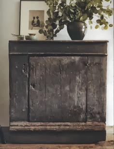 aged cabinet,