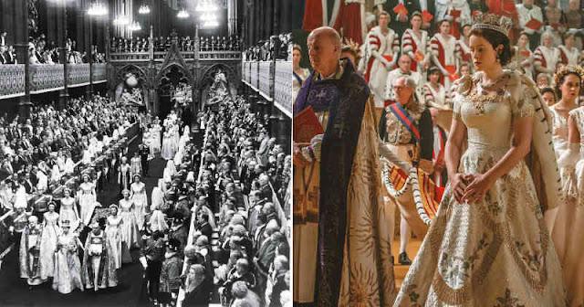 Comparación de la boda en la realidad y en la ficción en The Crown
