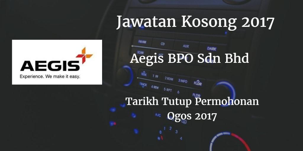 Jawatan Kosong AEGIS BPO SDN BHD Ogos 2017