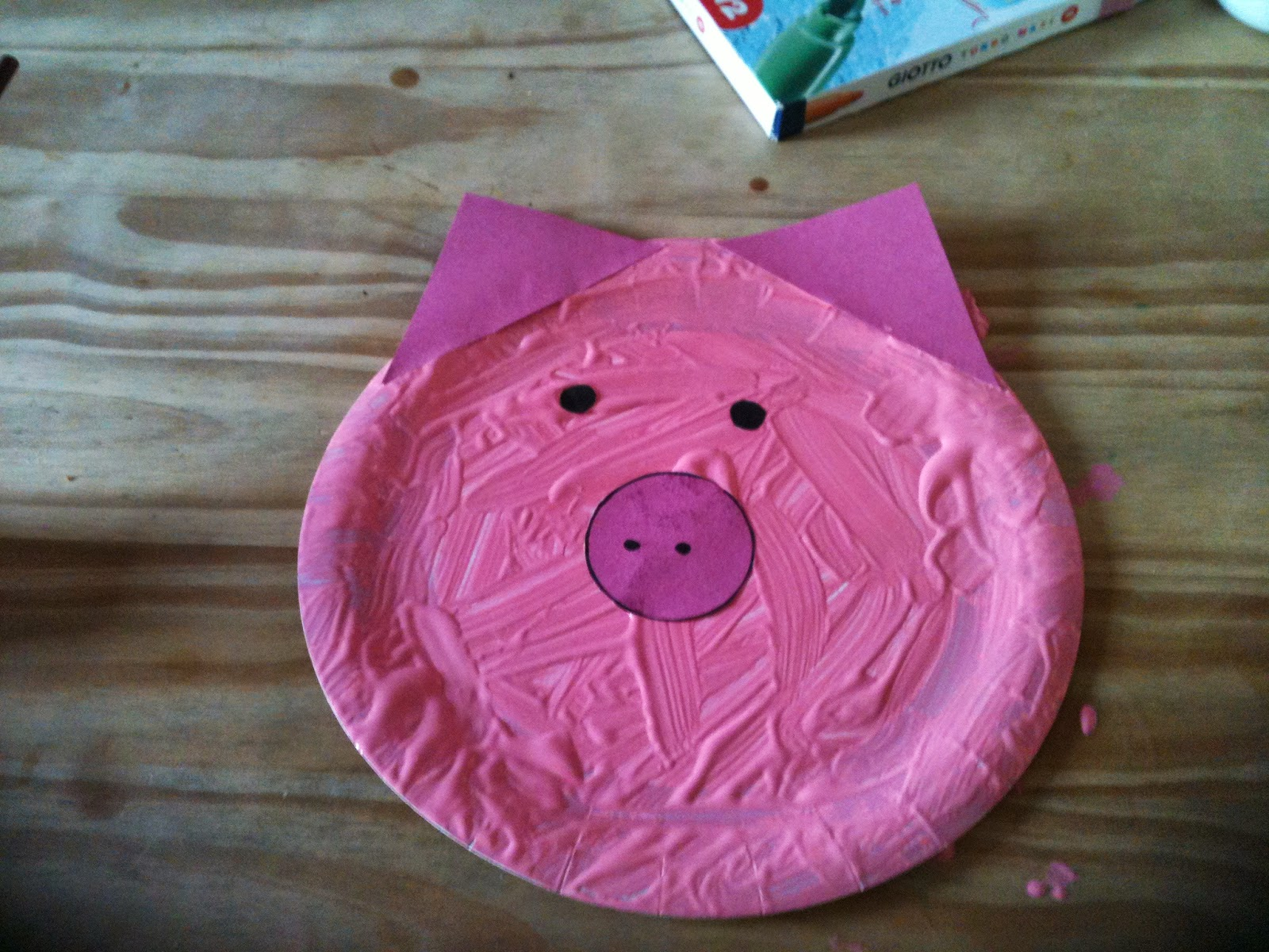pig made from paper plate