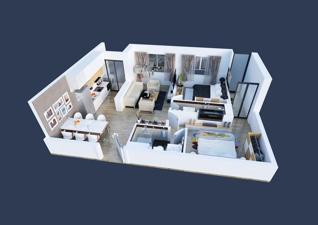 Thiết kế chi tiết căn hộ 02,05,08,11 tòa Spring - GoldSeason