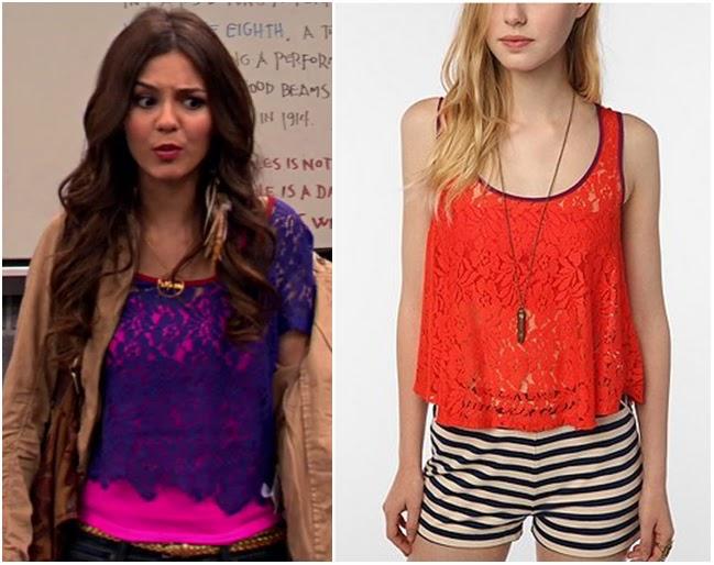 Victorious: Season 3 Episode 7 Tori's Lace Top | Shop Your TV