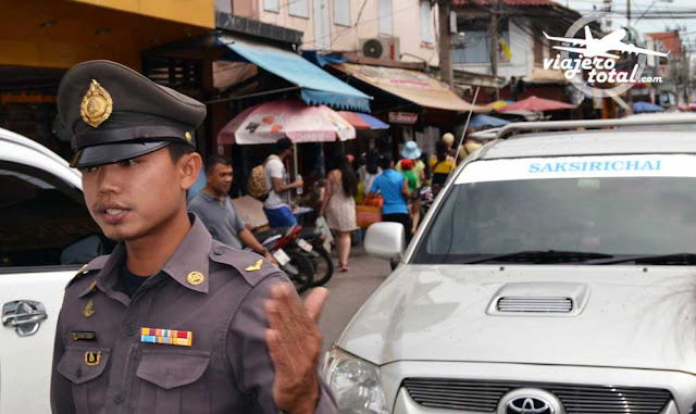 Tailandia Bangkok Guardia de trafico