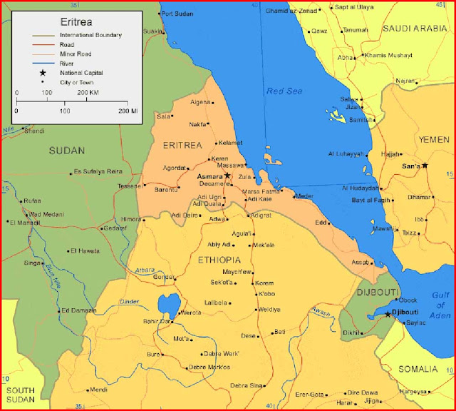 Gambar Peta Eritrea
