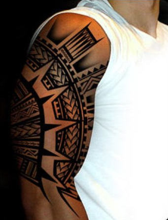 Este incrível samoan tatuagem tribal