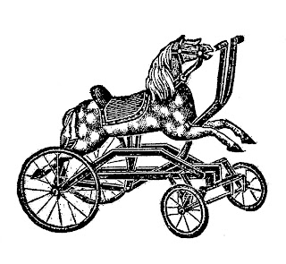 rocking horse toy children image illustration drawing artwork