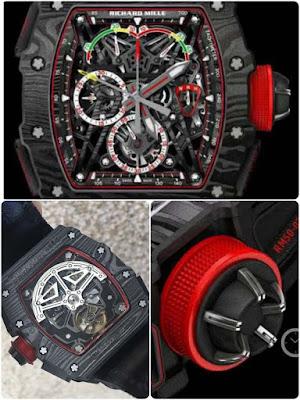 Jam Tangan Richard Mille body Karbon hitam