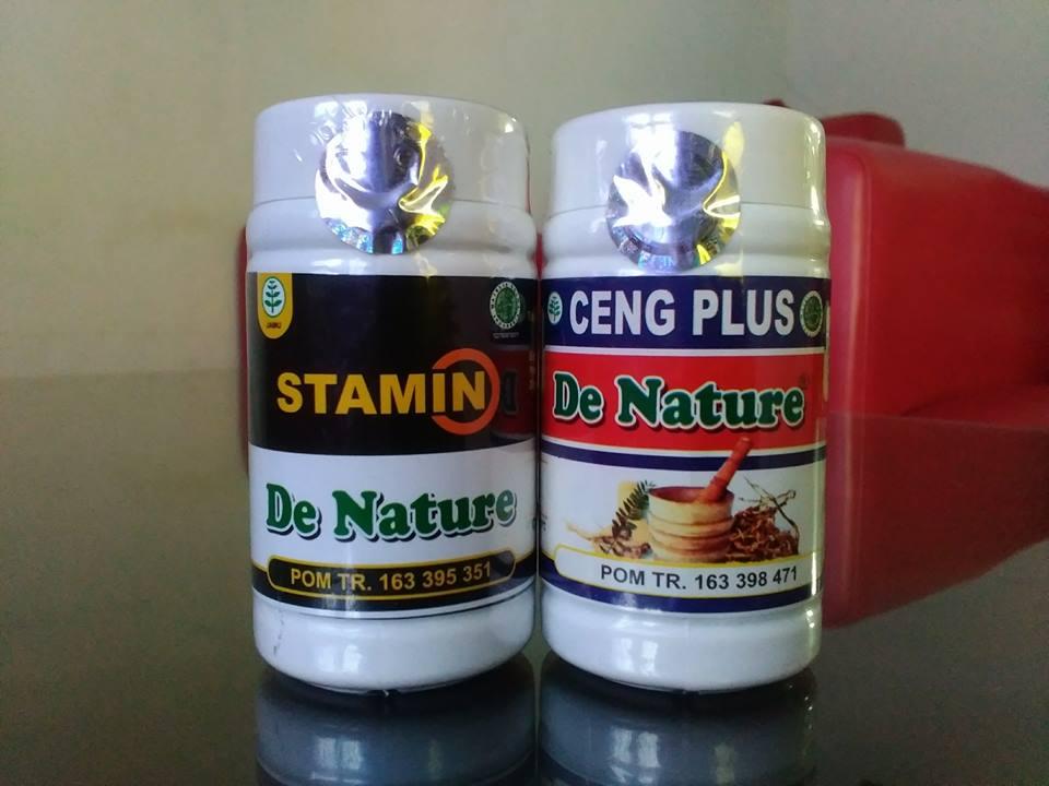 Obat Meningkatkan Hormon Testosteron Herbal de Nature Kapsul Ceng Plus dan Stamin