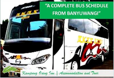 Banyuwangi Bus Schedule