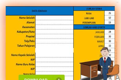 Unduh Aplikasi Otomatis Absensi Siswa Versi 2 Format Excel SD/MI
