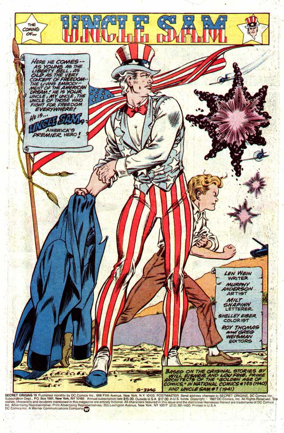 Read online Secret Origins (1986) comic -  Issue #19 - 2