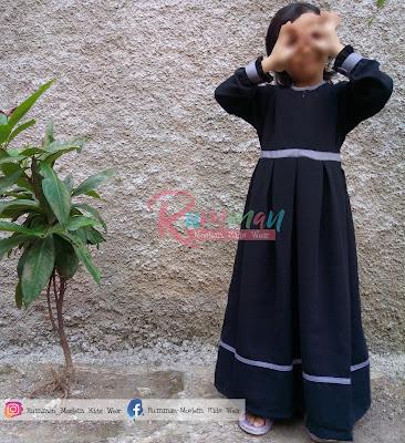 Baju Gamis Syar'i Anak Hitam