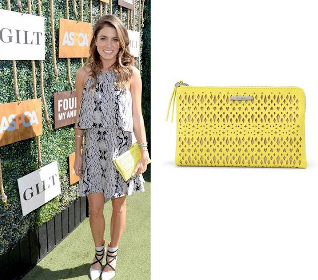 Stella & Dot Citrine Double Clutch - Nikki Reed