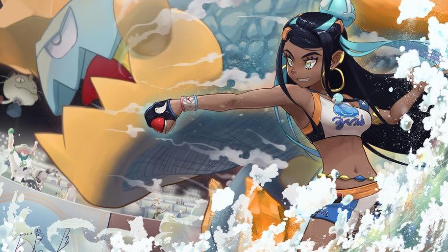 Nessa, Drednaw, Pokemon Sword and Shield, Gym Leader, 4K, #3.1369