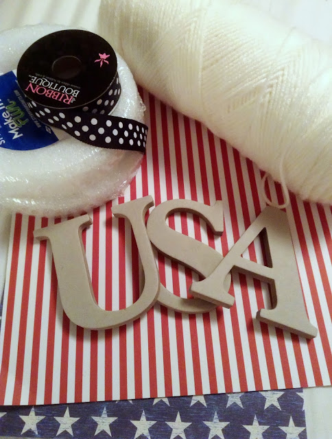 USA Wreath Supplies #patriotic #4thofJuly #usa #memorialday #redwhiteblue