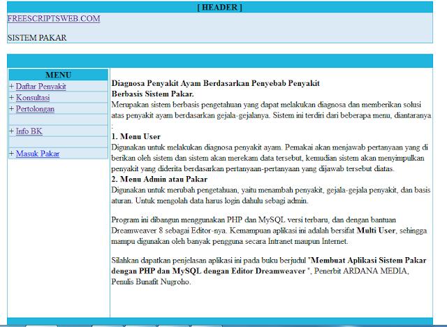 Scripts PHP, Program PHP dan MySQL, Souce Kode PHP
