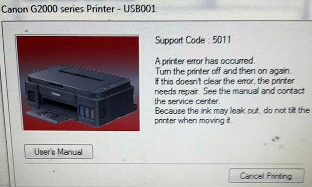 Cara Memperbaiki Error 5011 Canon PIXMA G2000 - Google