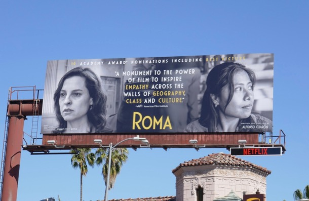 Roma Oscar nominee billboard