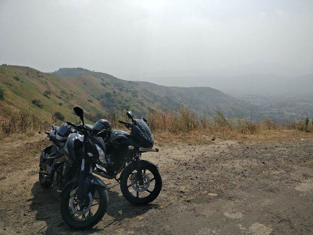 bikes at the top of pabe ghat