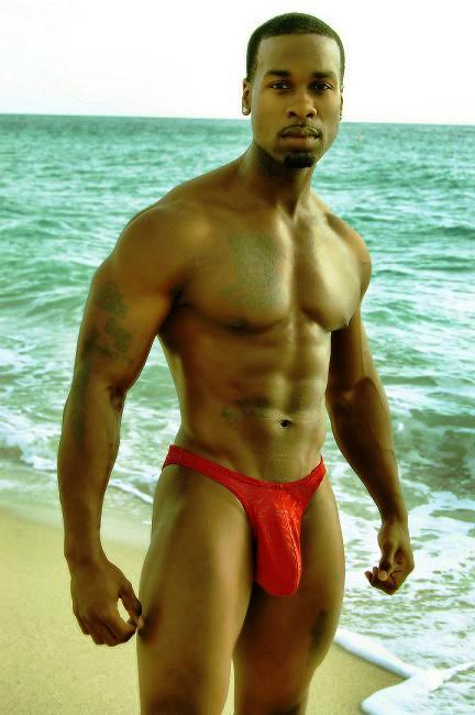 men showing bulge in speedos