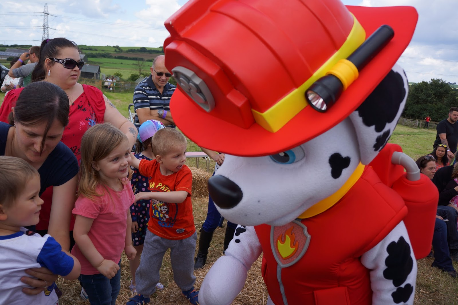 meeting marshall from paw patrol at an event