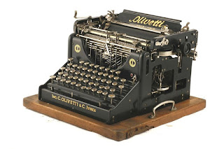 The first Olivetti typewriter, the M1, which Camillo designed himself for production at the Ivrea factory