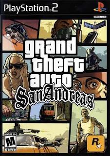 Imagem capa do jogo (GTA-SAN ANDREAS PS2 USA) site JSV