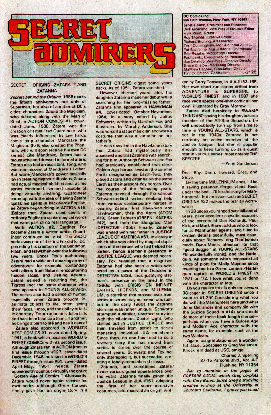 Read online Secret Origins (1986) comic -  Issue #27 - 41