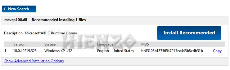 Install msvcp100.dll