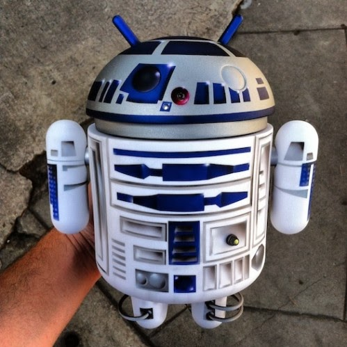 R2-D2 Star Wars Custom Mega Android Vinyl Figure (Front) by Evilos