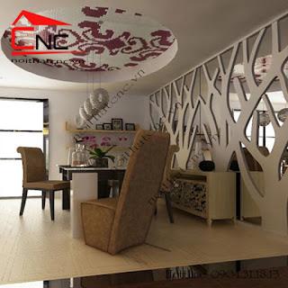 vach ngan phong bep%2B%25287%2529 Nên chọn vách ngăn phòng khách và bếp bằng gỗ hay nhựa?