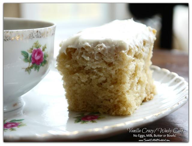 Vanilla Crazy Wacky Cake Recipe