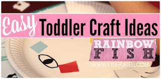 Easy Toddler Craft Ideas: Rainbow Fish Paper Plate Crafts